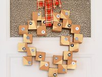 Little House On The Corner Paper Box Advent Calendar Wreath